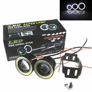 2-5-inch-30W-White-Fog-LED-Light-Red-Ring-SUV-COB-Halo-Driving-DRL-Projector-Len