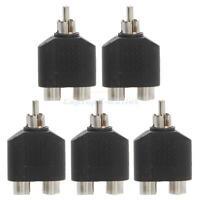 NEW 5x RCA Y Splitter AV Audio Video Plug Converter 1-Male to 2-Female  Adapter