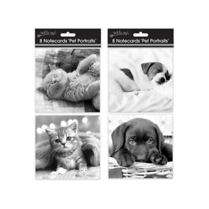 8-x-Cute-Blank-Notelets-Notecards-Thank-You-Cards-Puppy-or-Kittens