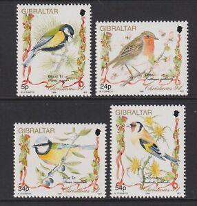 Gibraltar - 1994, Christmas, Song Birds set - MNH - SG 732/5