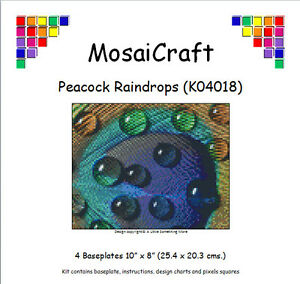 MosaiCraft-Pixel-Craft-Mosaic-Kit-039-Peacock-Raindrops-039-Pixelhobby