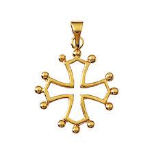 PENDENTIF Croix OCCITANE en Plaqué OR 750/000 NEUF BEAUX BIJOUX NEUFS PAS CHER