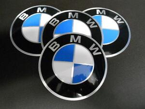 BMW 4x AUFKLEBER EMBLEM PLAKETTE 82mm Felge Scheibenrad NEU