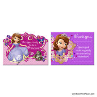 Sofia The First Invitations Birthday Decoration Party Supplies Princess Thanks