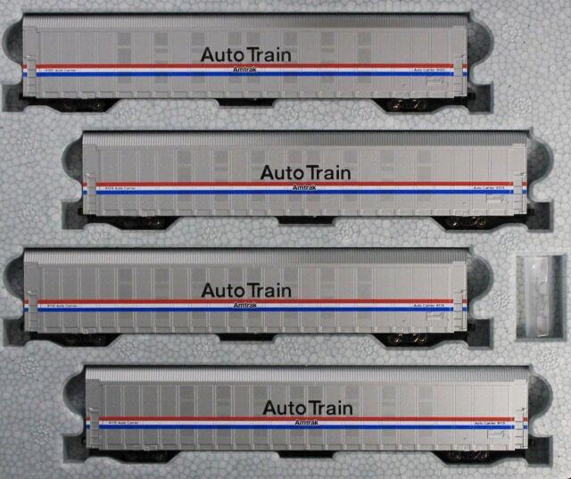 KATO 1065507 N Autorack Amtrak Auto Train Phase III 4-Car Set #1 106-5507 - NEW