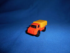PLASTIC TRUCK with w/CARGO COVER Lorry w/FLYWHEEL Friction MOTOR Kinder Surprise