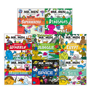 Mr-Men-and-Little-Miss-Adventures-Superheroes-Dinosaurs-8-Books-Collection-Set