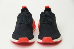 2841e74528b70 Adidas NMD R2 Primeknit Running Shoes Core Black Red White BA7252 ...