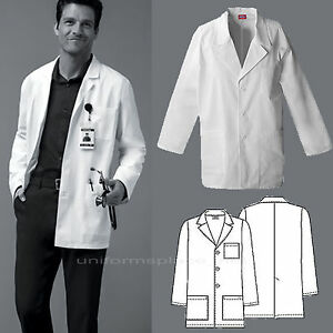 13cade7c600 Dickies MEDICAL SCRUBS Mens Washed Consultation Lab Coat White 3 ...
