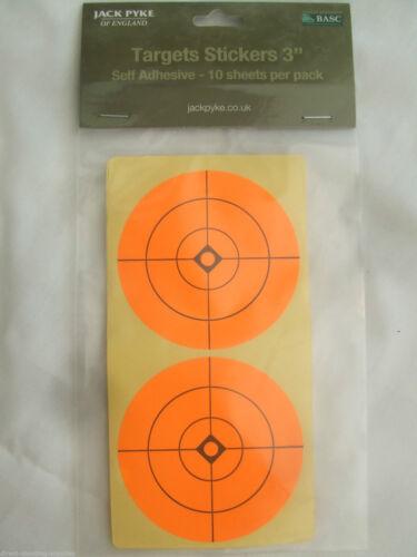 "20 x Stick Orange Cible Spots 3/"" Air Rifle Airgun pratique zeroing Plinking"