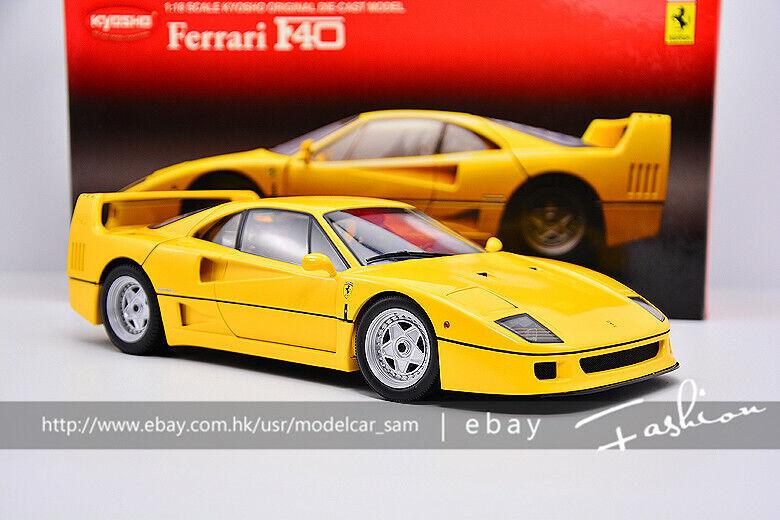 KYOSHO 1 18 Ferrari F40 Yellow