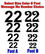 """2 x Double 9/"""" Race Car Numbers and Round Backgrounds"""