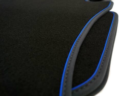 Blaues Zierband Hybrid Velour Tuning Automatte Toyota Auris 2013 Fußmatten