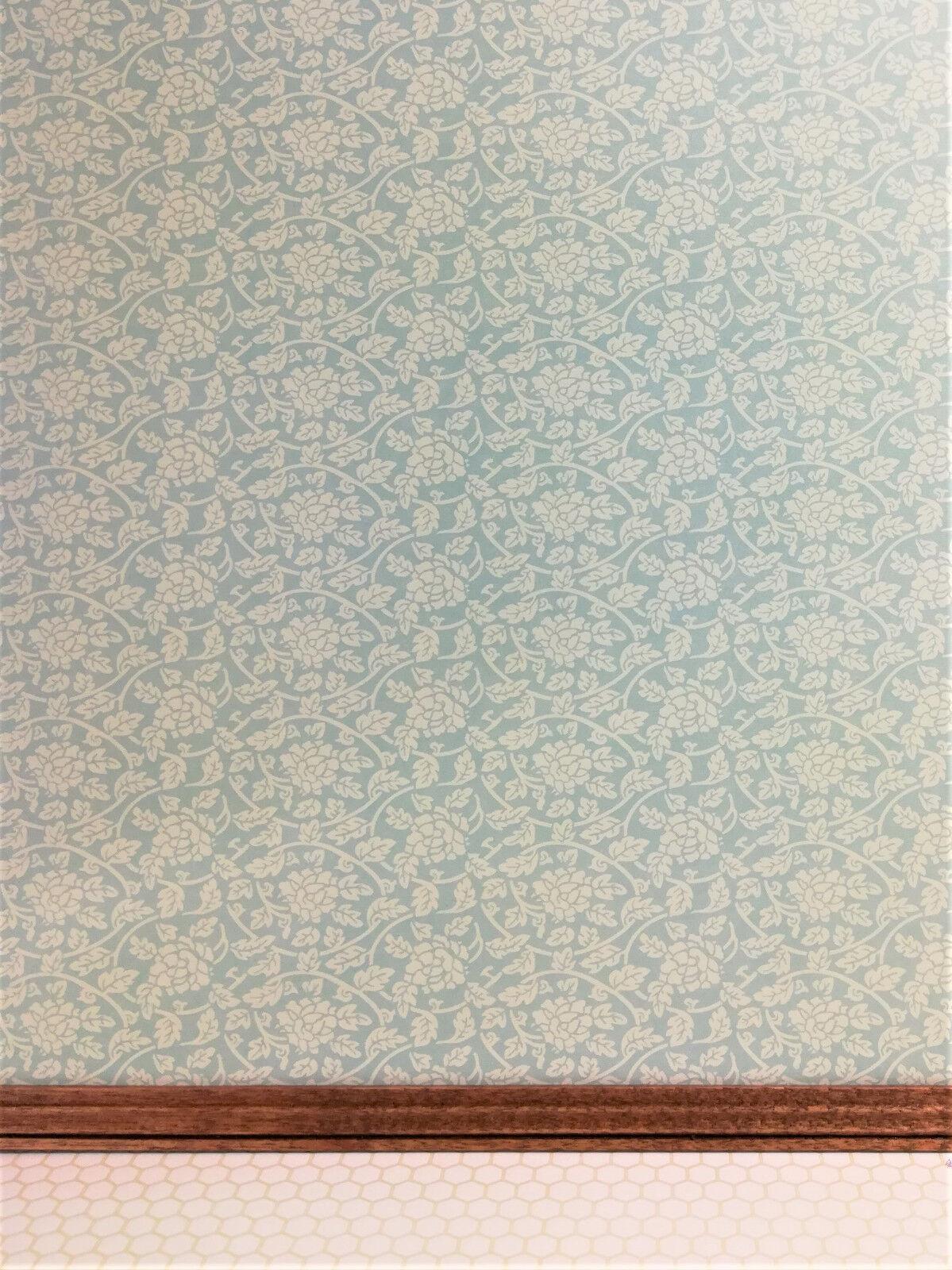 "Dollhouse Wallpaper Brodnax /""Monkeys/"" Brown Black Tan 1:12 Scale Miniature"