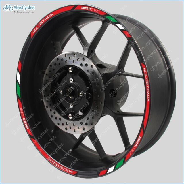 8 x BMW small wheel decals rim stickers stripes laminated set motorrad
