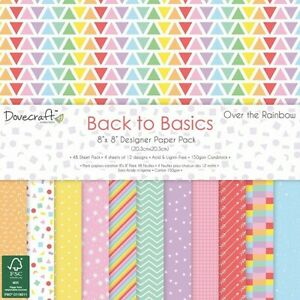 Paper-pad-Papier-block-Dovecraft-Back-to-Basic-Over-the-Rainbow-Pastell-DCPAP119