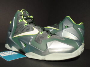 premium selection c42a4 e7b6a Image is loading 2013-NIKE-LEBRON-XI-11-DUNKMAN-MICA-GREEN-
