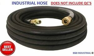 4000 PSI BLACK Wire Braid Pressure Washer Hose 25ft w// Couplers