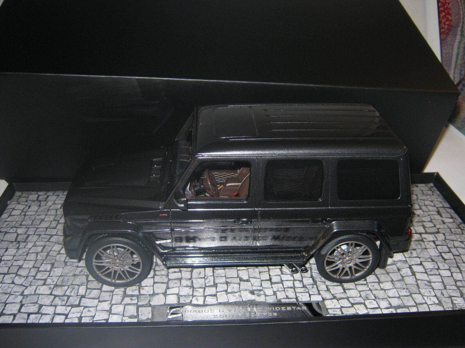 1 18 Brabus G v12 800 Widestar gris Minichamps 107032300 neuf dans sa boîte NEUF