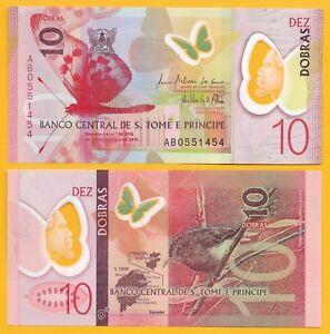 Saint-Thomas-amp-Prince-Sao-Tome-e-Principe-10-Dobras-p-71-2016-2018-UNC-Polymer