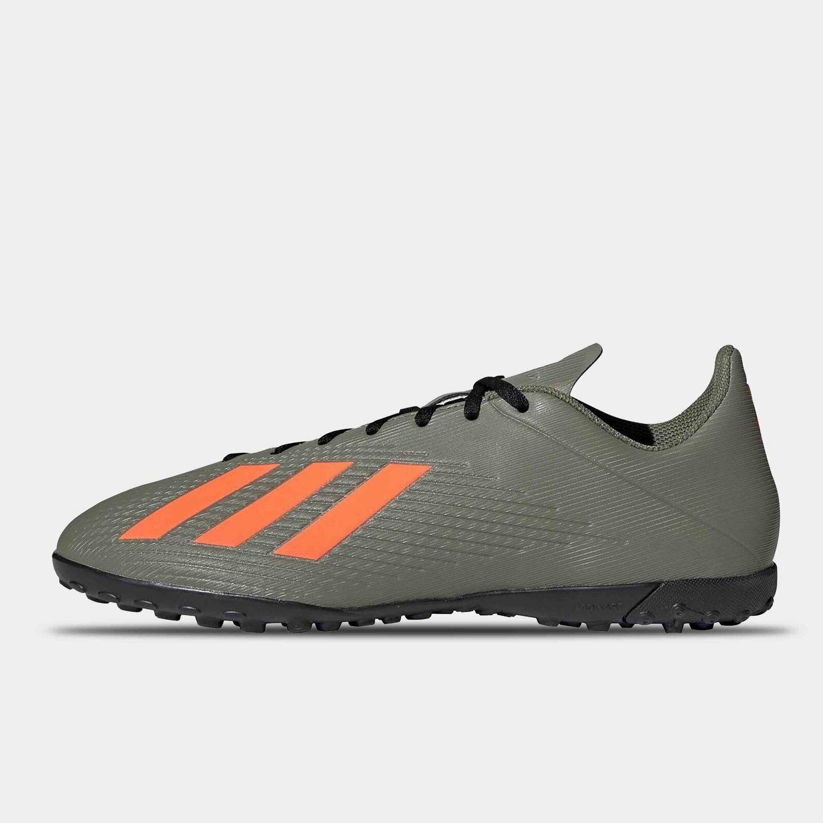 adidas Mens X 19.4 Astro Turf Trainers Legend Green Orange Sports Shoes