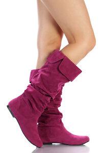 Berry Purple Faux Suede High Stiletto Heel Round Toe Platform Pump Qupid