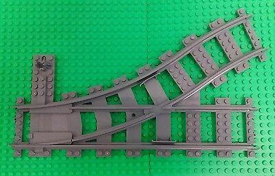 Duplo LEGO Train Track Switcher with Red Switch Dark Bluish Gray