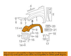New Front Section Left Fender Liner Splash Guard For 2007-2013 Toyota Tundra