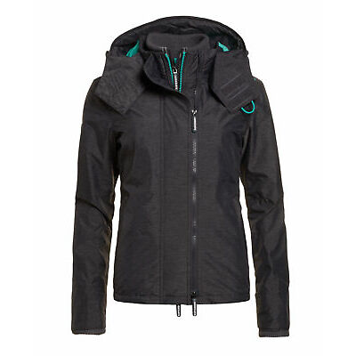 Superdry Mujer Chaqueta Pop Zip Mid Charcoal Marga Co