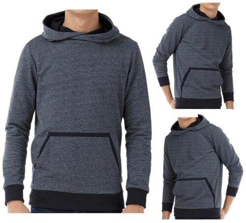 JACK /& JONES HOODIE PULLOVER SWEATSHIRT MEN HOODED JUMPER BLACK NAVY GREY M L XL