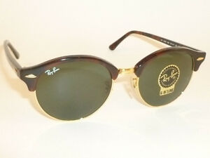 6c9b7c8080 New RAY BAN Sunglasses Tortoise Frame CLUBROUND RB 4246 990 G-15 ...
