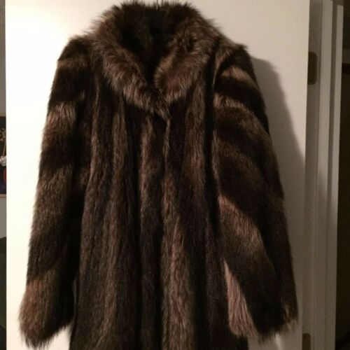 Raccoon Fur Fur Raccoon Large Jacket Fur Jacket Raccoon Jacket Large Raccoon Large Fur FUq1t8T