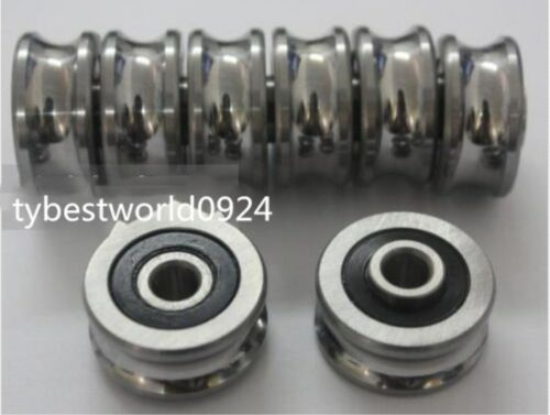 New 12pc 6*24*11mm SG20 U Groove Sealed Ball Track Guide Bearing Textile Machine
