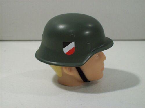 "NEW GI JOE GREEN GERMAN NAVY MILITARY HELMET FOR 12/"" ACTION FIGURE 1//6 SCALE"