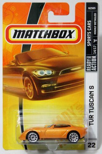 ORANGE w// BLACK STRIPE 2003 SPORTS CARS #22 TVR TUSCAN S 2008 MATCHBOX