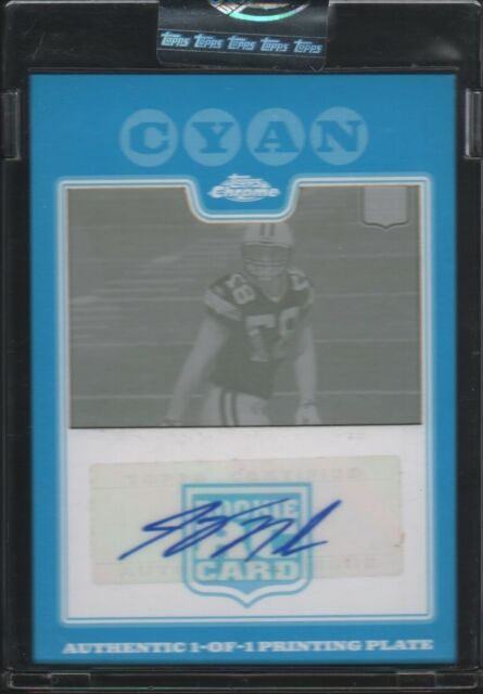2008 Jordy Nelson Topps Chrome Cyan Printing Plate Auto 1/1 Packers RC Rookie