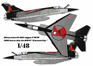 """Decals 1//48 FFSMC Productions Mirage F1CR 100 Years of The BR11 /"""" Casserole"""