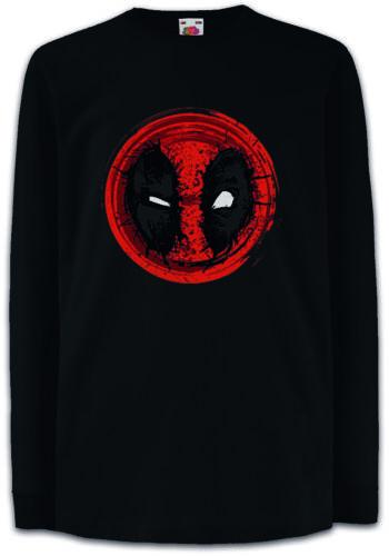 MUTANT MASK II Kids Long Sleeve T-Shirt Skull Logo Symbol Sign Deadpool