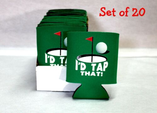 Foam Wholesale Set of 20 /& display box Kelly Green I/'d Tap That Can Coolers