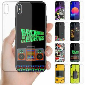 For Apple iPhone Series 1980s Retro Trend Tempered Glass Mobile Phone Back Case