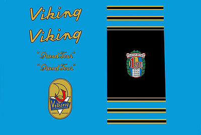 Viking Grand Tour Bicycle Decals-Transfers-Stickers #9