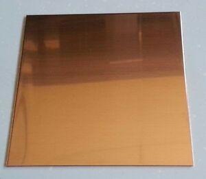 "1//8/"" Copper Sheet Metal Plate 4/"" x 4/"""