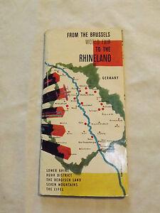 VINTAGE 1957 BRUSSELS WORLD FAIR TO  RHINELAND GERMANY TOURIST BROCHURE BOOKLET