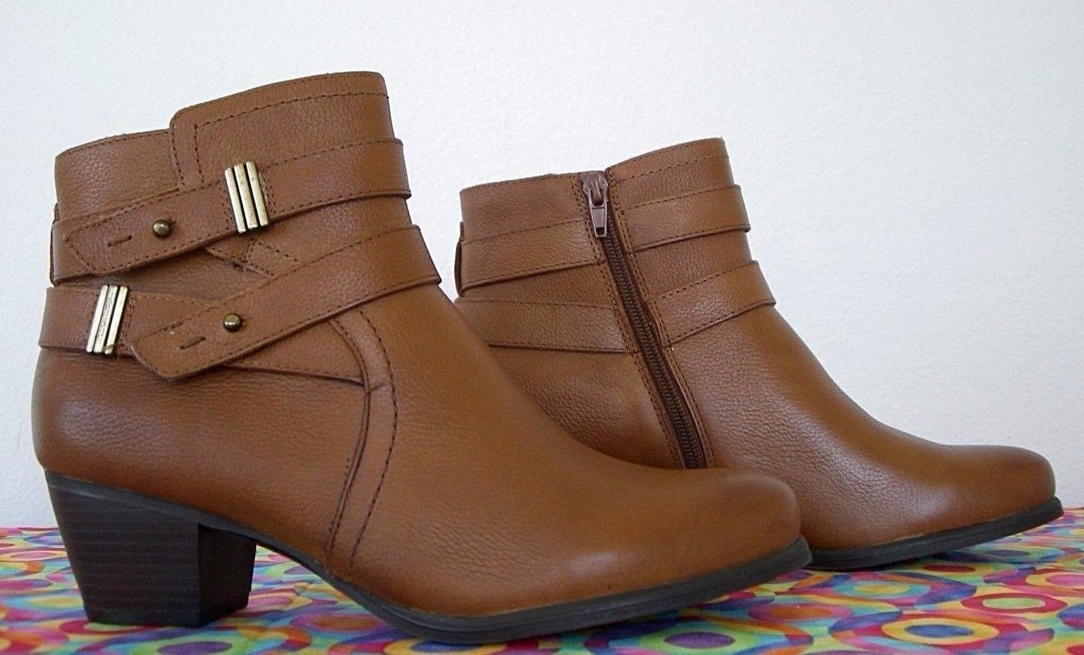 NEW*  Naturalizer  Glazed Brown  Pelle  Belted  Ankle Boot   7 M   ( 139)