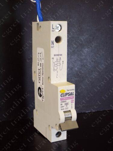 Clipsal Powerguard RCBO Wickes CRSB 30 mA B TIPO INTERRUTTORE AUTOMATICO-NUOVO