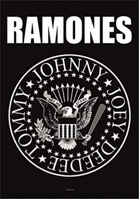 Heart Rock Bandiera Originale Ramones Eagle Logo, Tessuto, Multicolore, Cm