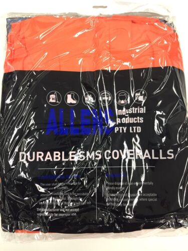 5 X Allens Brand SMS Type 5, Type 6 Disposable Coveralls Orange SIZE L