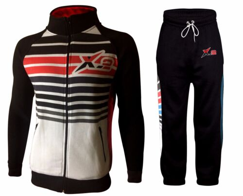 X-2 Men/'s Full Sports Fleece Tracksuit Sets All Season Zip Jacket Pants Joggers