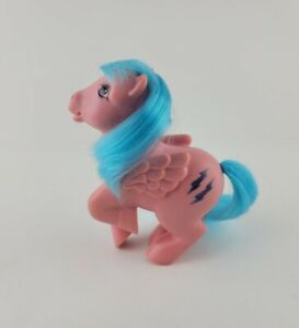 Vintage G1 Firefly My Little Pony Pegasus Pink Body Blue Glitter 1983