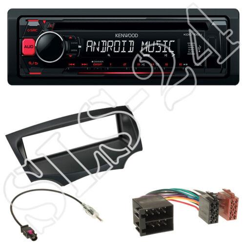Kenwood kdc-120ur CD USB radio ford ka ru8 a partir de 2008 diafragma negro adaptador ISO